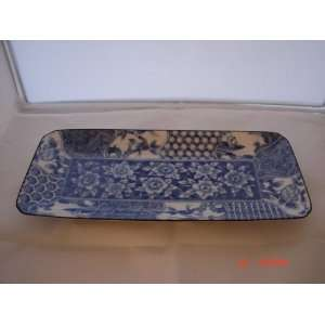 Japanese Blue & White Landscape Small Tray New Everything