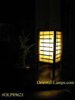 Handmade Shoji Japanese Asian Oriental Bamboo, Wood Table Lamp #621