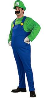 SUPER MARIO BROS DELUXE LUIGI COSTUME ADULT LARGE *NEW*