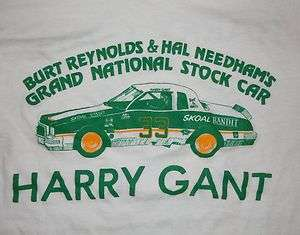REYNOLDS HARRY GANT GRAND NATIONAL STOCK CAR RACING T SHIRT