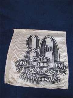1983 Harley Davidson 80th Anniversary Banner Flag