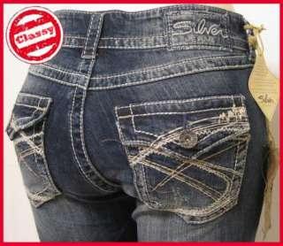 NEW SILVER JEANS Suki Surplus Capri Womens Jeans Sz 25 36