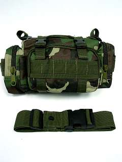 SWAT Molle Utility Waist Pouch Bag Pack Camo Woodland
