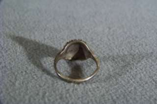 ANTIQUE STERLING SILVER FANCY ETCHED WIDE BAND RING 7