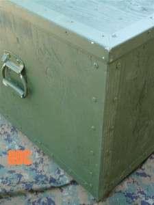 USMC Marine Corps Military Surplus UTILITY STORAGE CHEST Footlocker