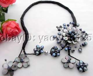 Charming Black Pearl&Shell Necklace