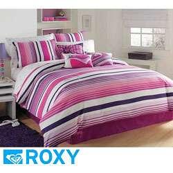 Roxy Sun Kissed Stripe Full/ Queen size Duvet Cover Set