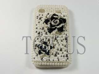 Black Rose Bling Crystal Hard Case Cover For NOKIA E71 @4