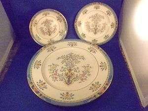 Tree Dinner Plate Bread N Butter Plate Berry   Fruit Bowl 3pc
