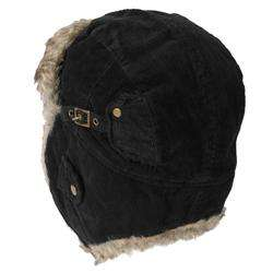 Boston Traveler Mens Corduroy Faux Fur Trapper Hat  Overstock