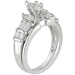 14k White Gold 1ct TDW Diamond Bridal Ring Set (G H, I1 I2