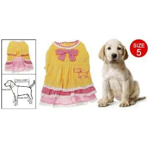 Como Yellow Dog Clothes Dress Apparel for Dog Pet Size 5