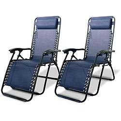 Zero Gravity Chairs   Blue (Pack of 2)