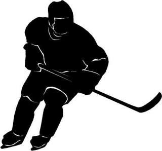 Hockey Player Vinyl Decal Car Truck Window Sticker