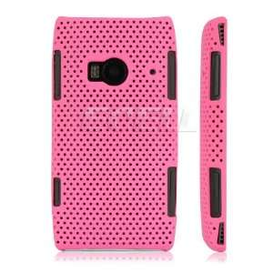 HOT PINK PERFORATED MESH HARD CASE FOR NOKIA X7 00 X7 Electronics