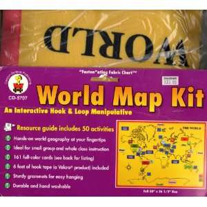 World Map Kit   Fabric Chart Toys & Games