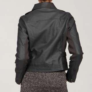 Romeo & Juliet Womens Charcoal Asymmetrical Zip Jacket