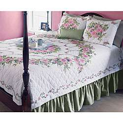 Donna Dewberry Bed Of Roses Quilt Cross Stitch Kit  Overstock