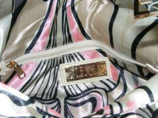 Steven by Steve Madden Empire Patent Leather Foldover Clutch Bag Ivory