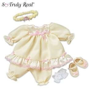 So Truly Real Baby Doll Clothing Party Dress Ensemble by
