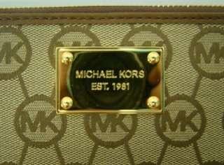 MICHAEL KORS JET SET CONTINENTAL MONOGRAM CLUTCH ZIP AROUND WALLET