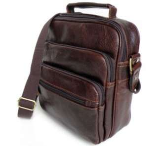 real cow leather Christmas gift iPad 2 satchel messenger bag briefcase