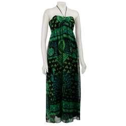 FINAL SALE Betsey Johnson Womens Green Maxi Dress  Overstock