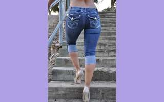 style la idol jeans capris 926cr size 1 3 5 7 9 11 13 color dark wash