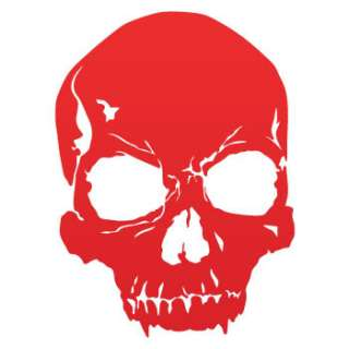 Vinyl Decal Sticker Crack Skull Death Car Window ZE523