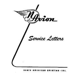 North American Aviation Navion Aircraft Service Letter