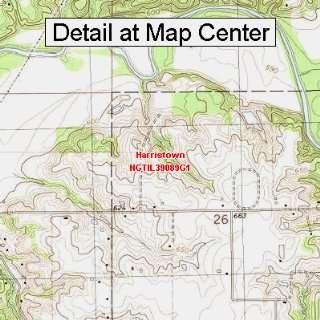 USGS Topographic Quadrangle Map   Harristown, Illinois (Folded