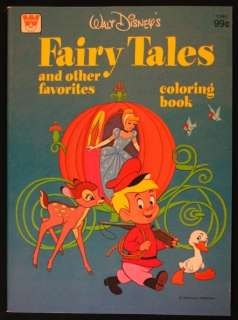 WALT DISNEYS FAIRY TALES COLORING BOOK 1976   UNUSED