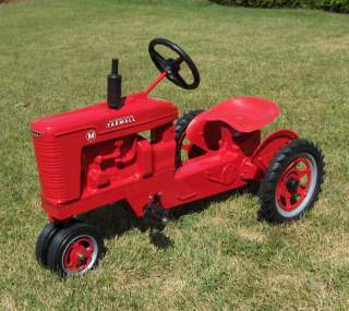 Farmall M Diecast Pedal Tractor w/ Spoked Rims , Made in the USA, NIB