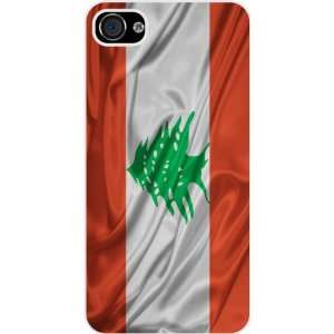 Rikki KnightTM Lebanon Flag White Hard Case Cover for