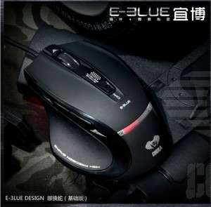 NEW E Blue Cobra Lighting Ash 6 Buttons Optical Gaming Mouse