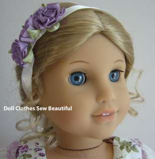 Cream & Lavender Gown fits American Girl Doll Clothes