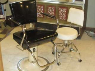 Modecraft Barber Styling Salon Chair & Rolling Beauticians Chair