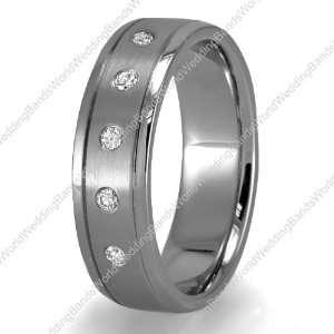 Diamond Wedding Bands in 14K Gold, 6mm Wide, 0.20 Carat Jewelry