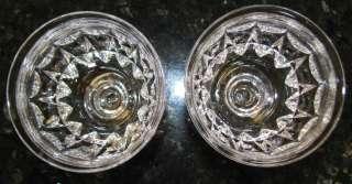 Tudor Wine Crystal Glasses or Goblets*Set of 2 *England