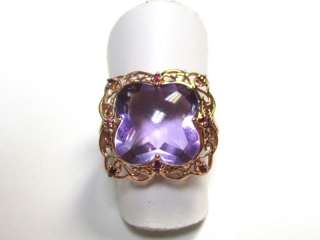 14k Rose Gold Ring Containing Fancy Purple Amethyst