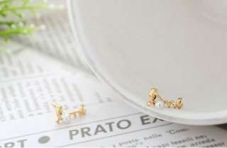 C4458 New Fashion Jewelry gold love letters pearl earring stud