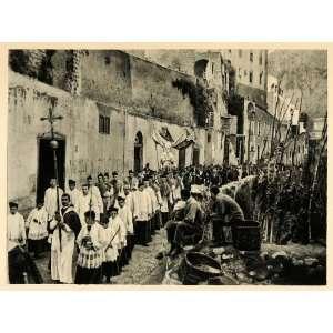 1927 Capri Italy Religious Procession Priest Altar Boys