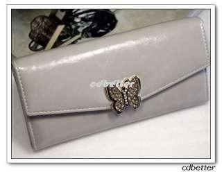 Purse Chain Shoulder Bag Lady Womens Rhinestone Butterfly