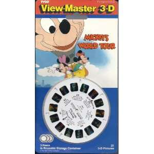Mickeys World Tour View Master 3D 3 Reel Set Toys & Games