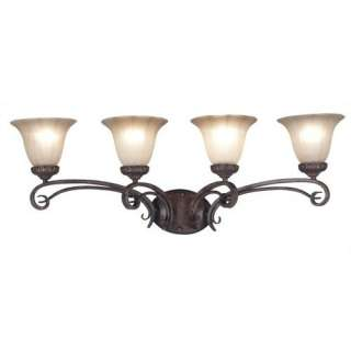 Kenroy Home Rochester Vanity Light in Aruba Teak Decor