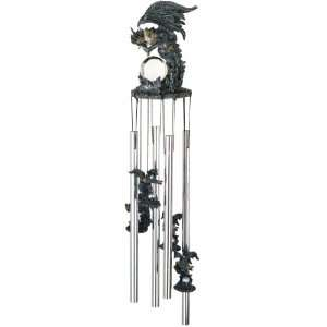 Wind Chime Round Top Dragon Hanging Garden Porch