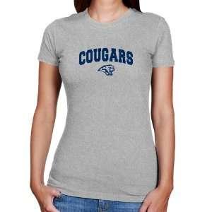 Houston Cougars T Shirt  Houston Cougars Ladies Ash Logo