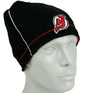 Reebok New Jersey Devils Black Red Official Team Reversible Knit