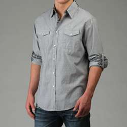 Age of Wisdom Mens Snap Button Shirt  Overstock