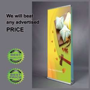 LFS SWISS D (2 Sided) 32 Wide Retractable Banner Stand